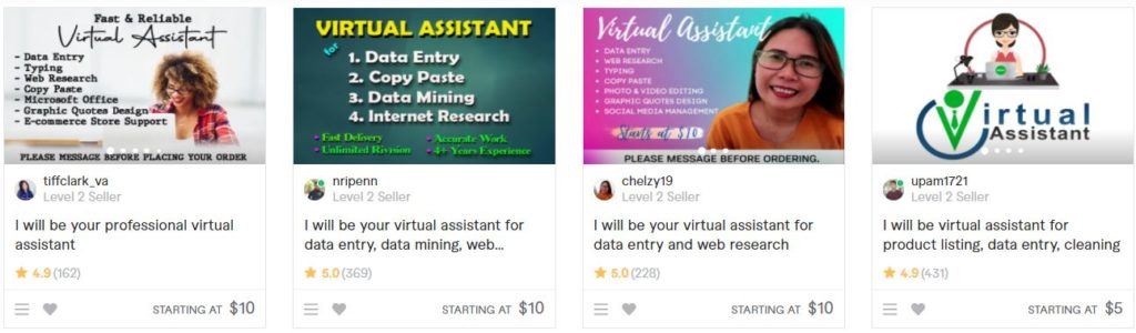 easy gigs to sell on fiverr